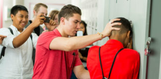 90 percent of 4th through 8th graders report being victims of bullying