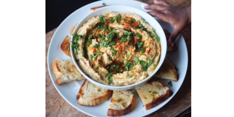 Farm Bread with Olive Oil and Hummus