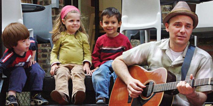 Randy Kaplan with kids.