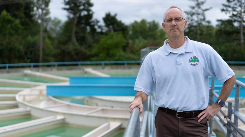 Brian Stieglitz, Ann Arbor's Water Treatment manager.