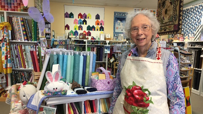 Mary Lindquist, owner of The Quilting Season in Saline.
