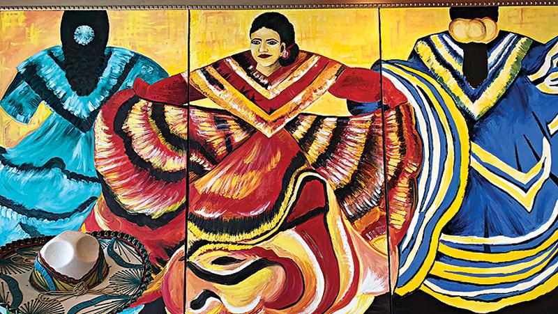 Colorful art covers the walls at Bandito's.