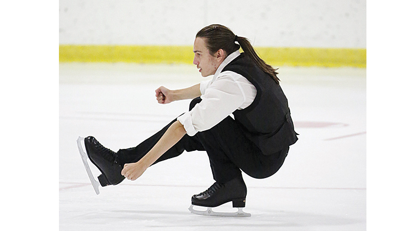 Alex Meints, 17, skated at the U.S. Nationals Gala at Little Caesar's Arena in January. Photo contributed by Karen Meints