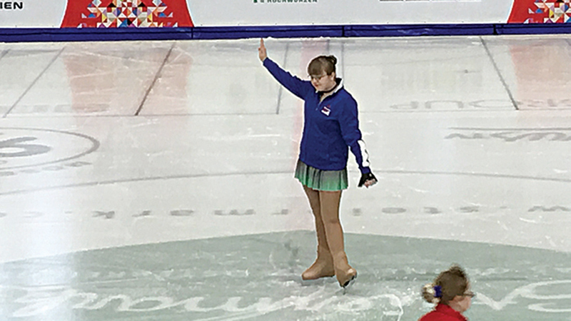 Grace Cregar, 17, has participated with Ann Arbor Figure Skating for the past eight years. She regularly competes in the Special Olympics in Michigan and as part of Special Olympics International. Photo contributed by Marie Cregar