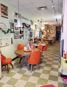 The Shimmy Shack fast food restaurant opened  in January 2019 and the atmosphere is inspired by a 1950's home and is intended to make you feel comfortable and happy. PHOTO CREDIT Katherine Brewer