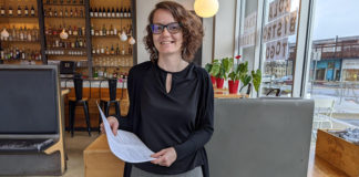 (Contributed by Amber Messman): Zola Bistro Manager Amber Messman is one of many in the restaurant business balancing new restrictions with getting meals to her customers. She is also a parent managing the new online school reality with her two high schoolers.
