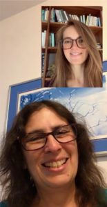 Piracha encourages a student during a virtual college advising consultation. Image courtesy of Shari Piracha.