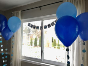 Baby shower decorations. Image courtesy of Ashley Branoff.