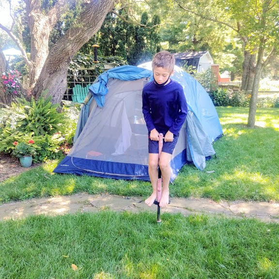Molly Boren and her family are creating happy memories during these stressful times with backyard tent camping. Image courtesy of Molly Boren.