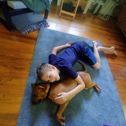 Sam Boren's family adopted puppy Obee for a happy distraction during the pandemic. Image courtesy of Molly Boren.