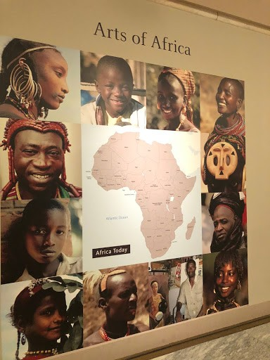 The Arts of Africa exhibit entrance. Image courtesy of Christina-Marie Sears.