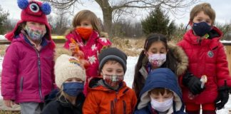 Daycroft School winter art