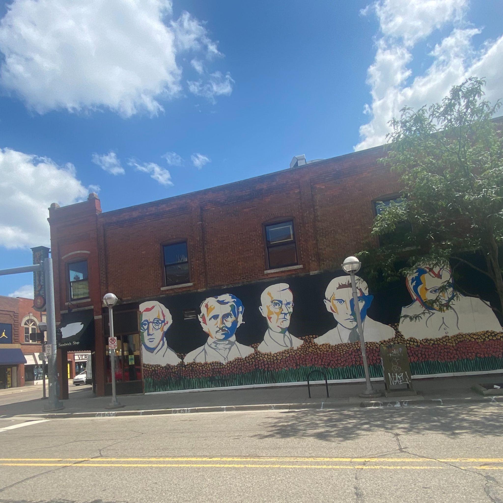 bookstore murals in ann arbor